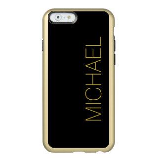 Simply Black Solid Color Customize It Incipio Feather® Shine iPhone 6 Case