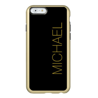 Simply Black Solid Color Incipio Feather® Shine iPhone 6 Case