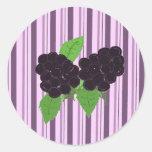 Simply Blackberries Classic Round Sticker