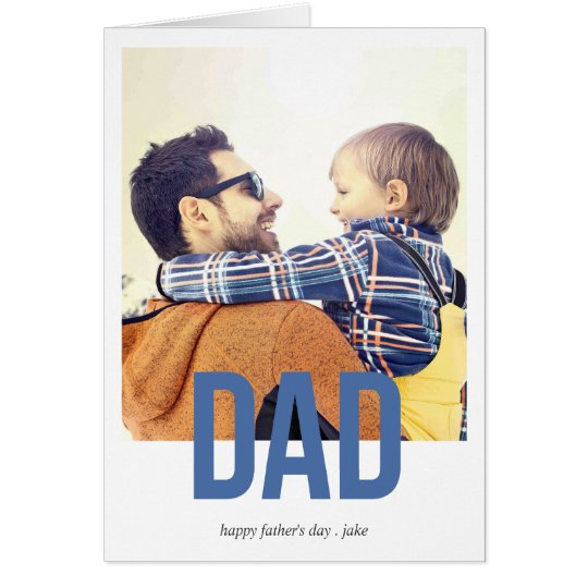 Simply Bold Father's day Greeting Card