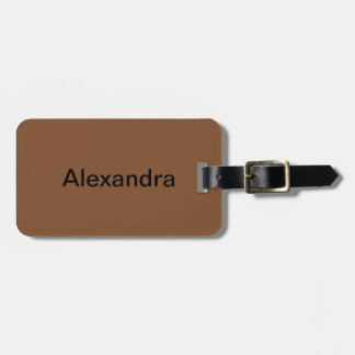 Simply Brown Solid Color Bag Tag