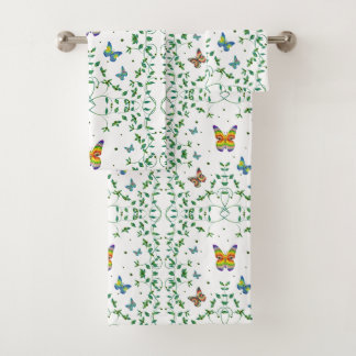 Simply Butterfly Bath Towel Set