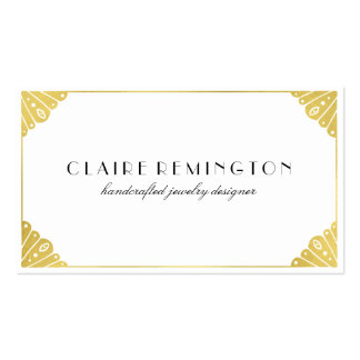 Simply Chic Art Deco | Faux Gold Foil Pack Of Standard Business Cards