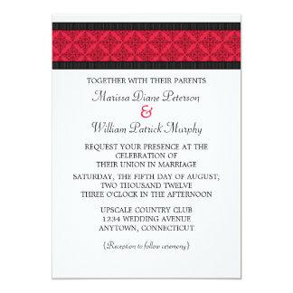 Simply Chic Damask Wedding Invitation
