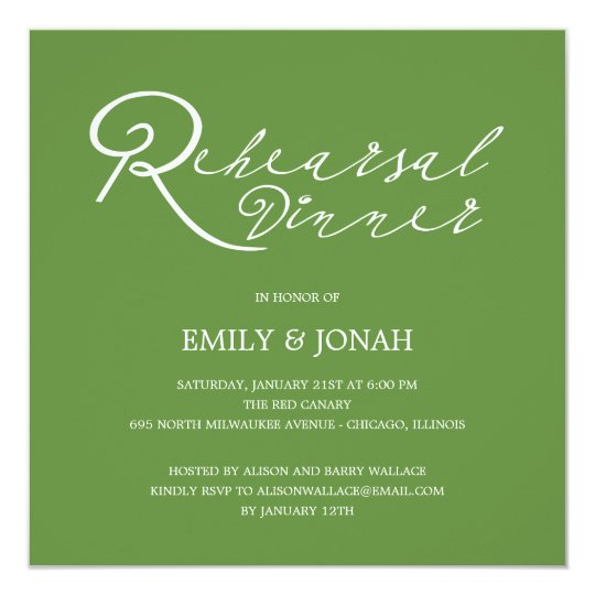 Simply Chic Rehearsal Dinner Invitation