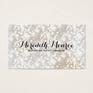 Simply Chic Silver and Gold Bokeh Business Cards