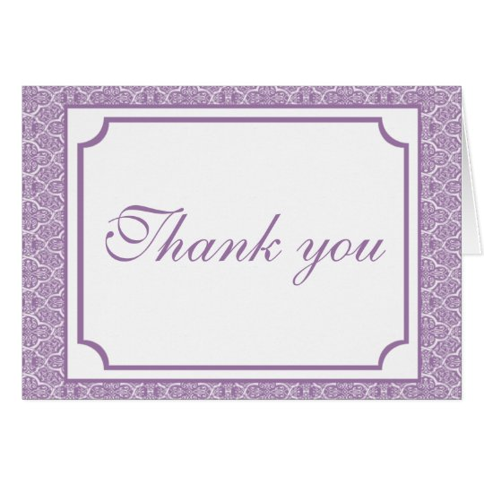 Simply Classic Damask Thank You Card