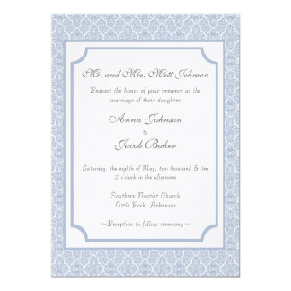 Simply Classic Damask Wedding Invite