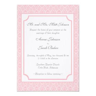 Simply Classic Damask Wedding Invite