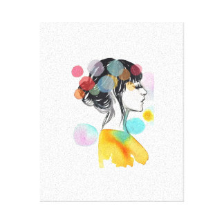 Simply Colorful Girl Canvas Prints