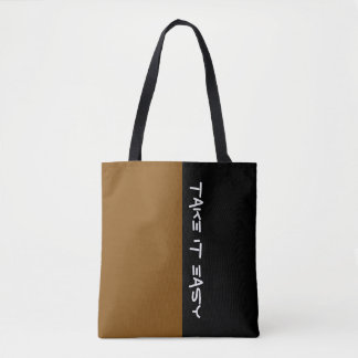 Simply colors BROWN & your Text Tote Bag