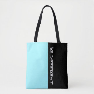 Simply colors CYAN BLUE & your Text Tote Bag