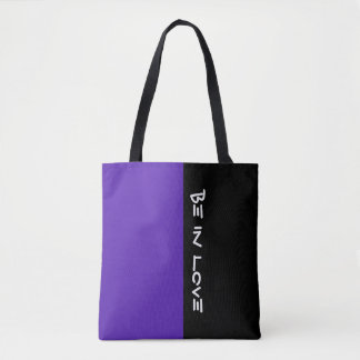 Simply colors DARK VIOLET & your Text Tote Bag