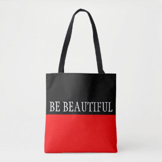Simply colors FIRE RED & your Text Tote Bag