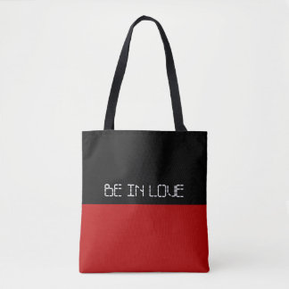 Simply colors RED & your Text Tote Bag