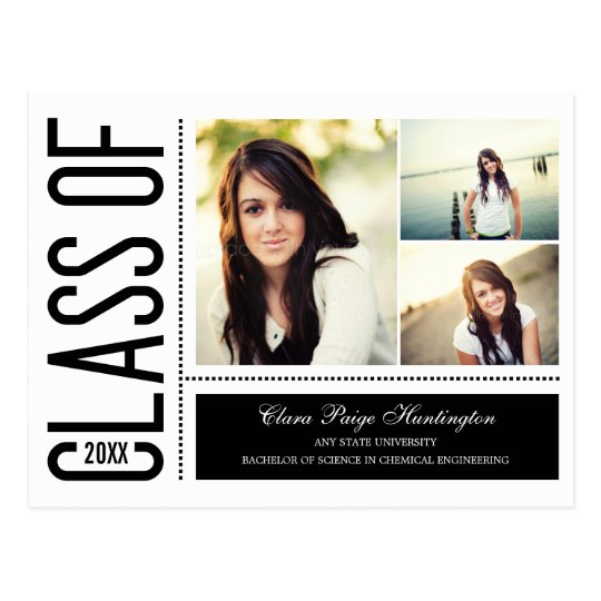 Simply Cool Graduation Announcement/Invitation Postcard