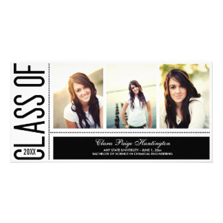 Simply Cool Graduation Announcement Personalized Photo Card