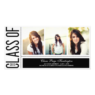 Simply Cool Graduation Announcement Personalised Photo Card