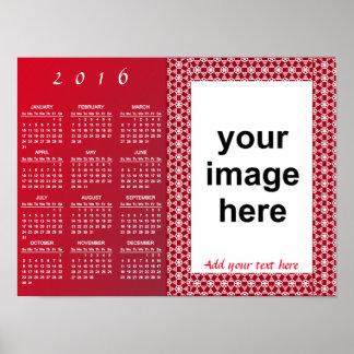 Simply Custom 2016 Photo Calendar Poster