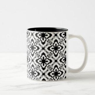 Simply Dazzling Damask Mug, Black and White