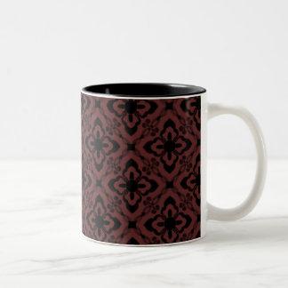 Simply Dazzling Damask Mug, Cabernet Two-Tone Mug