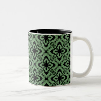 Simply Dazzling Damask Mug, Green Two-Tone Mug