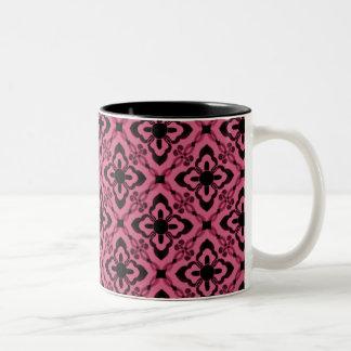 Simply Dazzling Damask Mug, Pink Two-Tone Mug