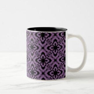 Simply Dazzling Damask Mug, Purple Two-Tone Mug