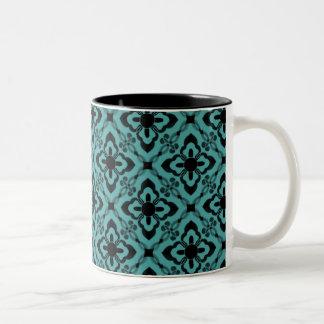 Simply Dazzling Damask Mug, Turquoise Two-Tone Mug
