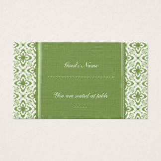 Simply Dazzling Damask Wedding Place Card