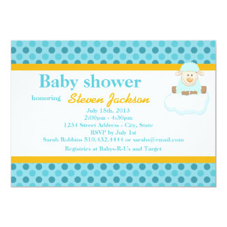 Simply Dots Baby Shower Invitation