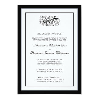 Simply Elegant 5x7 Black/White Wedding Invite