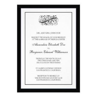 Simply Elegant 5x7 Black White Wedding Invite