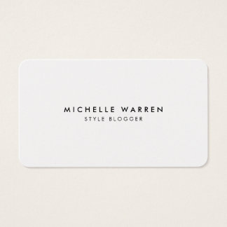 Simply Elegant Blogger Minimal Business Card