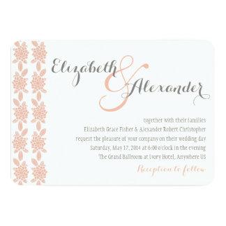 Simply Elegant Coral Wedding Invitation