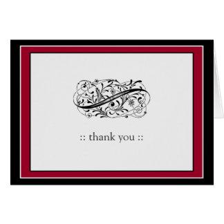 Simply Elegant Custom Thank You (cranberry/black) Card