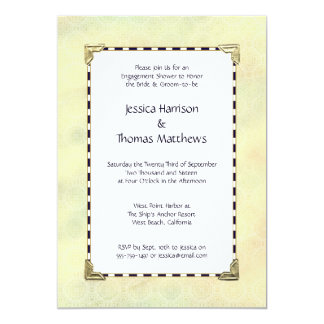 Simply Elegant Engagement Shower Or Party 13 Cm X 18 Cm Invitation Card