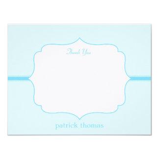 Simply Elegant Flat Thank You Card  - Blue 11 Cm X 14 Cm Invitation Card