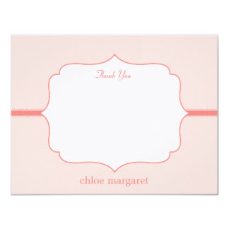 Simply Elegant Flat Thank You Card  - Pink Announcements