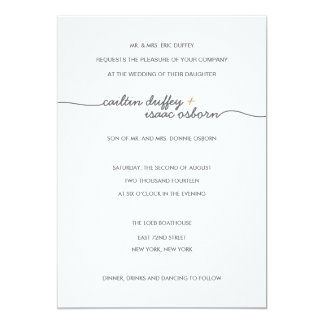 Simply Elegant Gold Wedding Invitation