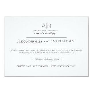 Simply Elegant | Modern Custom Initials 13 Cm X 18 Cm Invitation Card