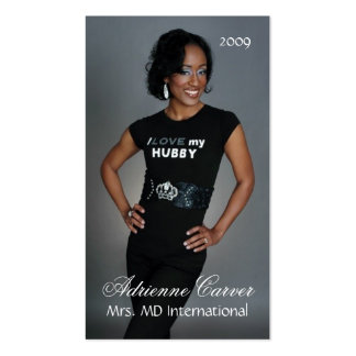 Simply Elegant Pageant Business Card