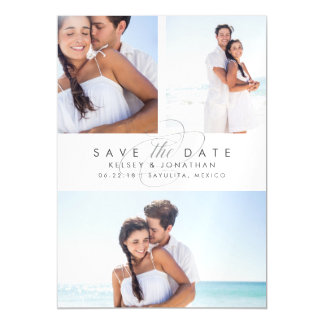 Simply Elegant Photo Collage Save the Date Magnetic Invitations