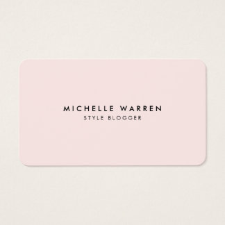 Fashion blogger business cards choice image business card template styles business cards business card printing zazzle simply elegant pink blogger business card colourmoves reheart Images