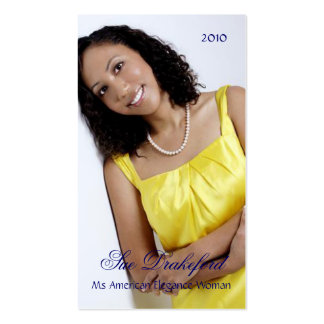 Simply Elegant Profile Pageant Business Card