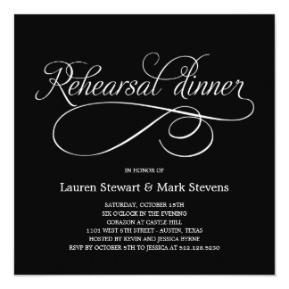 Simply Elegant Rehearsal Dinner Invitation (Custom