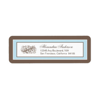 Simply Elegant Return Address Label (brown/blue)