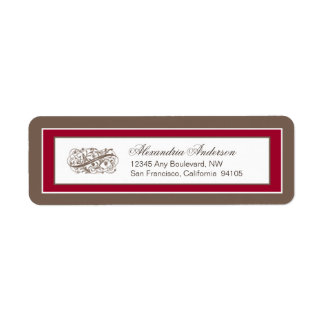 Simply Elegant Return Address Label (brown/red)