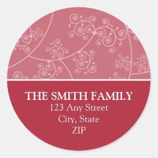 Simply Elegant Return Address Seal Red Sticker