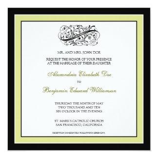 Simply Elegant Wedding Invitation (black/lime)